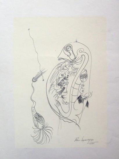 tinta da china sobre papel fundo serigrafado (5)