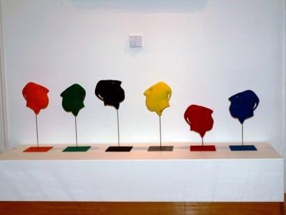 conjunto de 6 esculturas em chacota