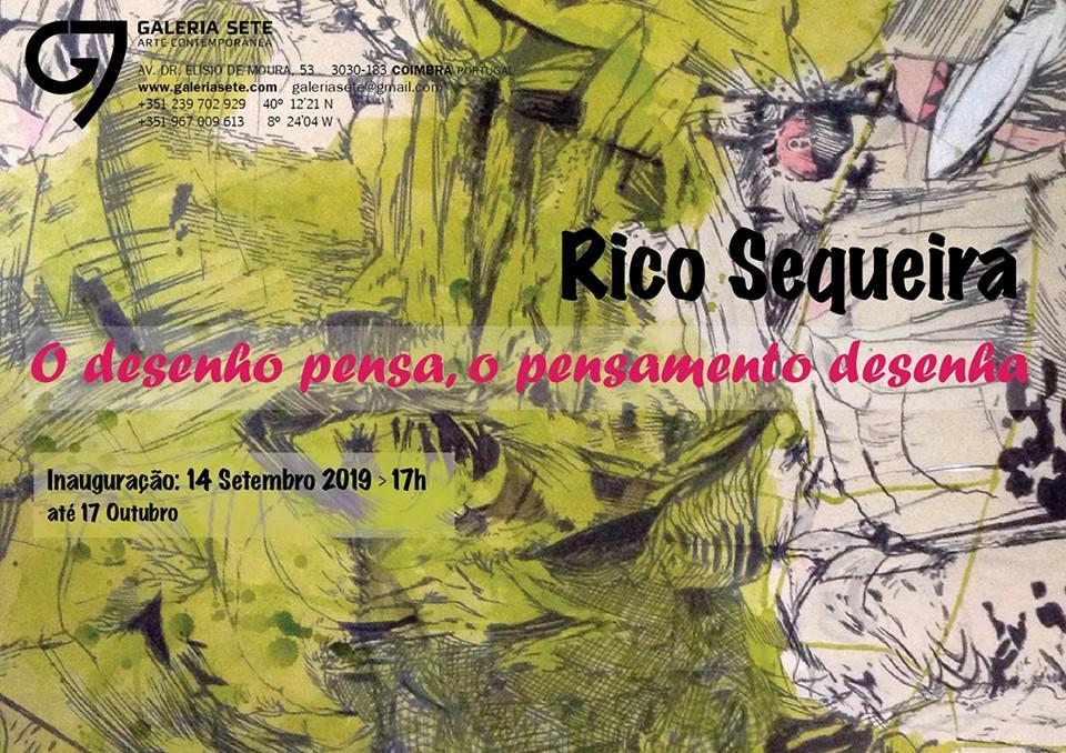 Exposição 'O DESENHO PENSA, O PENSAMENTO DESENHA'  Galeria Sete-Coimbra